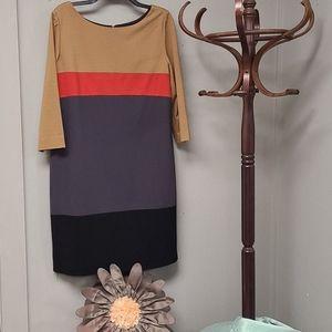 Tahari Arthur S. Levine Color Block Dress